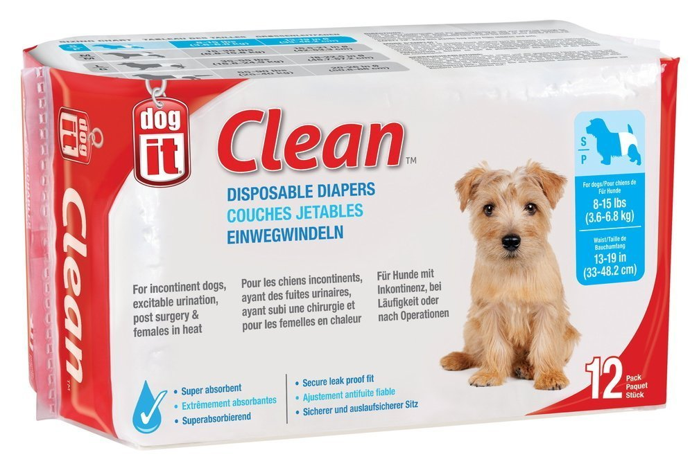 clean disposable dog diapers