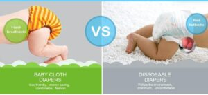 cloth diapers and disposable diapers