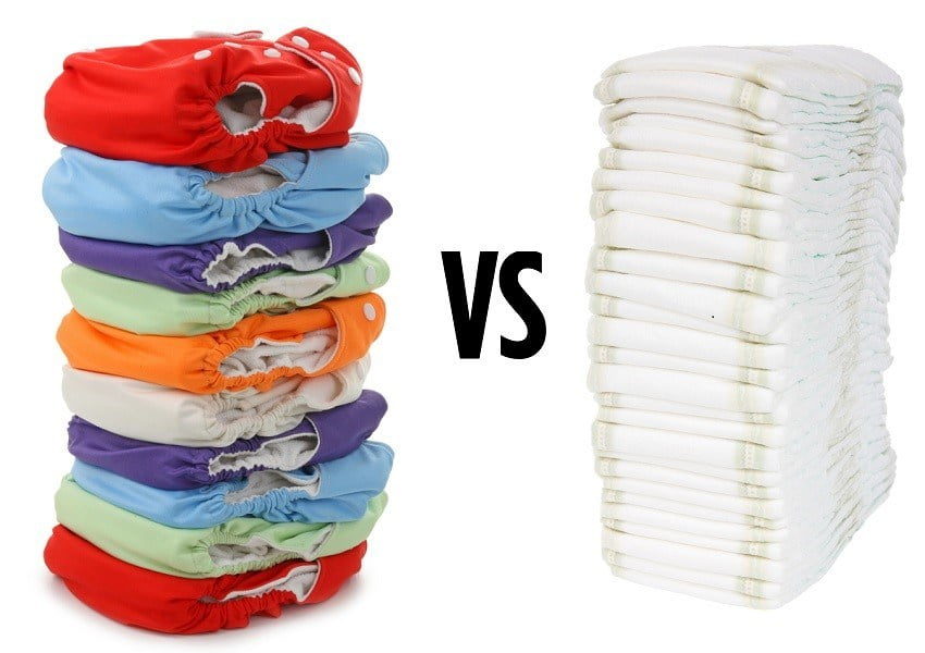 Cloth diaper vs Disposable Diapers.