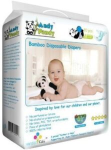 Andy Pandy Eco-Friendly Premium Bamboo Disposable Diapers