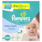 Pampers Fresh Water Water Baby Wipes